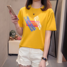 Loose Size Short Sleeve T-shirt Women Cotton Loose Summer 2019 New Chao Baitao Women's White Top T-shirt