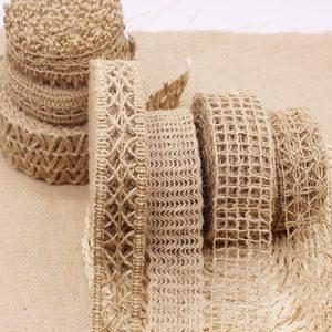 装饰麻绳 绳子手工DIY棉麻材料花边复古装修工艺品编织宽扁麻织带