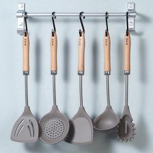 硅厨匠木柄炒菜<span class=H>锅铲</span>硅胶铲子耐高温厨具套装汤勺家用不粘锅专用铲