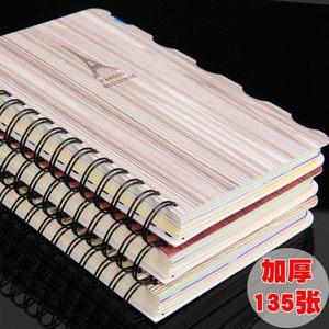 四方伙伴厚B5 32K办公分类分层线环线圈螺旋本笔记本记事本日记本