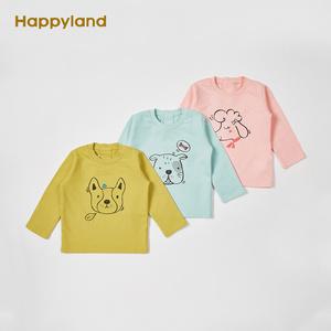 Happyland童装男女幼童休闲长袖<span class=H>T恤</span>春季款小童衬衣儿童百搭<span class=H>t恤</span>