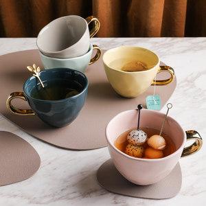 ins创意不规则欧式<span class=H>陶瓷</span>咖啡杯北欧小奢华简约法式下午茶<span class=H>杯子</span>家用