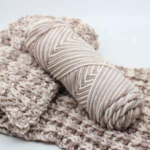 珊瑚绒毛线绒手工围巾段染三股宝宝线编织手工新品毛巾绒线粗花色