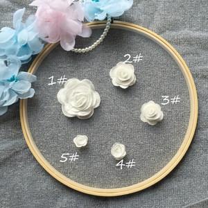 5个号本白色立体玫瑰花朵蕾丝花片 DIY<span class=H>婚纱</span>头纱头饰配件材料辅料