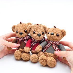 公仔<span class=H>钥匙扣</span>可爱小熊女士包包挂件韩国创意卡通毛绒挂饰汽车钥匙链