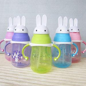学生耐摔幼儿园水壶儿童水杯宝宝带<span class=H>吸管</span>手柄夏季防漏塑料杯