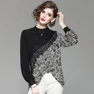 心机上衣设计感秋百搭女韩范品牌衬衫女高档奢华大牌高端雪纺上衣