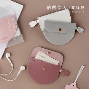 信的戀人櫻花祭零<span class=H>錢包</span>SAKURA創意小清新可愛花瓣耳機數據線收納包