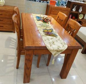 特价美国红<span class=H>橡木</span>餐桌 纯实木餐桌<span class=H>餐椅</span> 高档实木家具清仓价 正品
