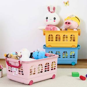 <span class=H>爱丽思</span>IRIS可叠加彩色塑料儿童杂物玩具收纳篮整理筐KC540
