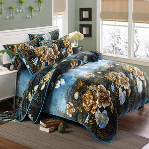 冬季加厚貂狐绒四件套短毛珊瑚绒被套1.5m/1.8米床裙款床上<span class=H>用品</span>