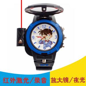 儿童<span class=H>手表</span>男孩电子玩具石英表指针式多功能夜光录音运动柯南可发射