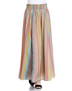 艾格專柜正品<span class=H>女裝</span>文藝氣質豎條紋可兩穿長裙<span class=H>半身裙</span>