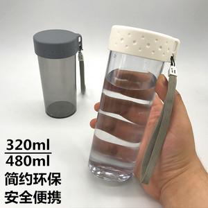简约韩版学生运动水杯可爱男女便携塑料水瓶泡茶创意韩国随手杯子