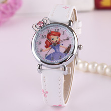 South Korean children watch girl electronic waterproof quartz watch primary school girls cute cartoon Princess Sophia Princess table