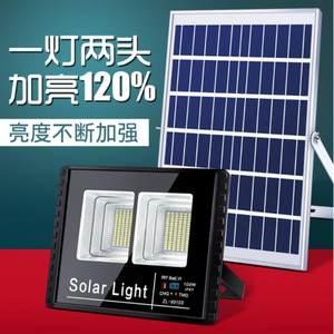 <span class=H>路灯</span>露营户外灯太阳能锂电池灯板家用方形投射灯广告牌工程用双头