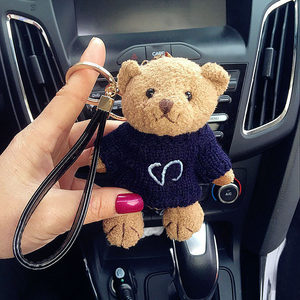 小熊公仔<span class=H>钥匙扣</span>女士韩国创意汽车钥匙链可爱卡通毛绒挂饰包包挂件