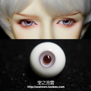 bjd玻璃<span class=H>眼珠</span> 小虹膜 棕红 10121416mm 小眼睛的福音346分叔用