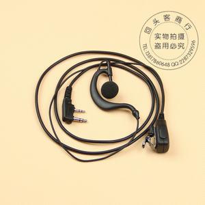 对讲机耳机K头对讲机耳机接口 双插粗线耳机 铁<span class=H>夹</span>耳机 耳麦