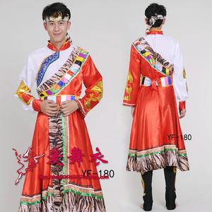 新款藏族舞蹈<span class=H>服装</span><span class=H>男装</span>少数民族演出服饰藏族舞台表演<span class=H>服装</span>藏袍藏服