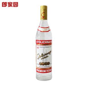 洋酒包邮STOLICHNAYA <span class=H>Vodka</span>苏连红<span class=H>伏特加</span>酒