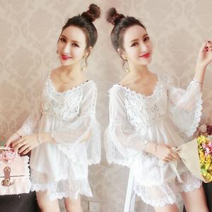 清纯yy网络直播服装美女主播仙甜美可爱公主蓬蓬连衣裙蕾丝娃娃衫