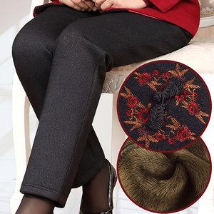 中老年人棉裤冬装加厚加绒<span class=H>女装</span>60岁妈妈裤子70老人奶奶保暖裤