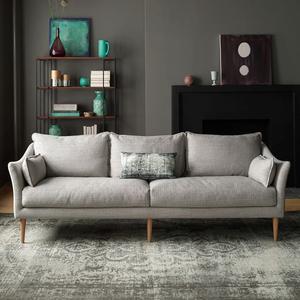 北欧羽绒乳胶<span class=H>沙发</span>现代简约小户型可拆洗棉麻布艺<span class=H>沙发</span>组合双三人位