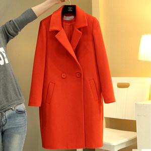韩国东大门茧型呢子大衣女加厚加棉新款宽松显瘦毛呢外套女冬大码