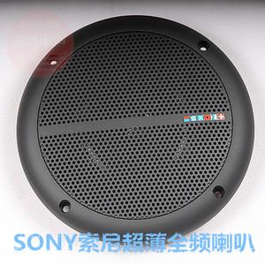 SONY索尼薄款汽车喇叭全频发烧天花吊顶音箱黑色影音电器乳白色