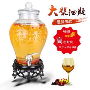廚房大號玻璃油壺食用<span class=H>油桶</span>花生油儲油瓶家用香油茶籽油罐橄欖油瓶