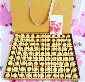 520情人节送情人老婆女生节礼物99粒<span class=H>费列罗</span>正品<span class=H>巧克力</span>精美礼盒装