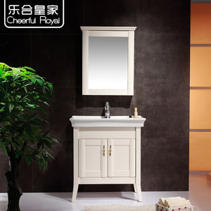 乐合皇家卫浴 实木橡木浴室柜组合 简北欧式 精装修房洗手盆柜