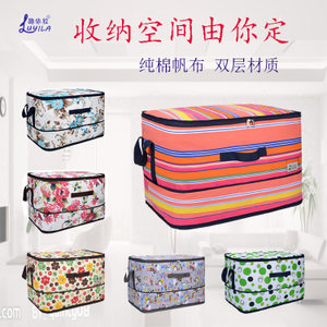 可伸缩棉被<span class=H>收纳袋</span>装被子的袋子家用帆布<span class=H>超大</span>衣物整理箱行李搬家袋