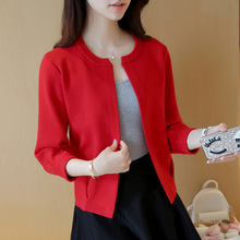 Spring and Autumn 2009 New Short Knitting Shirt Women Spring Dress Long Sleeve Small Outer Open Shirt Loose Wide Sweater Overcoat