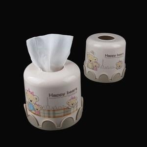 时尚可爱圆筒卡通纸巾盒 家用创意桌面抽纸盒 纸巾抽<span class=H>纸巾筒</span>纸抽盒