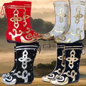 新款少数民族蒙古<span class=H>靴子</span> 藏族新疆族民族舞蹈靴 男女儿童表演藏<span class=H>靴子</span>