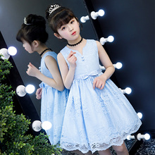 Girl Dresses Summer Dresses 2019 New Korean Children's Lace Princess Skirt