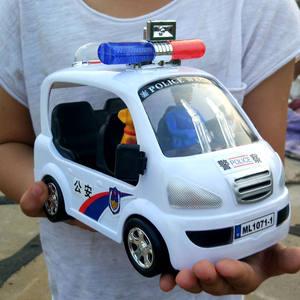 警車玩具男嬰寶寶兒童電動汽車帶音樂萬向輪會跑警車禮物電動玩具