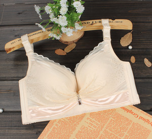 薄模杯有钢圈文胸罩小胸收副乳聚拢调整型性感上托薄款内衣女透气