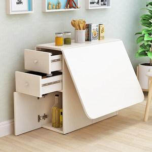 简约现代小户型伸缩折叠餐桌长方形移动厨房储物柜简易饭<span class=H>桌椅</span>组合