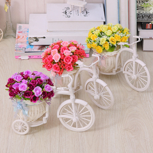 Simulated Flower Car Set Decoration for Home Bedroom Small Ornaments Plastic Dry Flower Bundle Indoor Living Tea Table Room Decorated with Fake Flowers