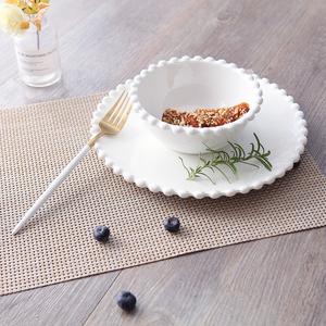 出口创意陶瓷盘碗套装家用酒店<span class=H>餐具</span>沙拉水果盘碗菜盘大饭碗早餐盘