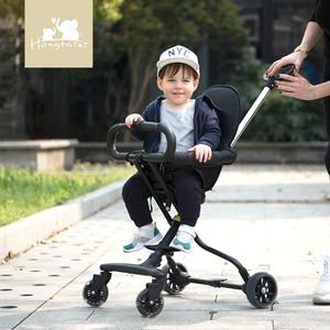 溜娃神器轻便折叠推车儿童宝宝<span class=H>三轮车</span>小孩四轮带娃遛娃婴儿手推车
