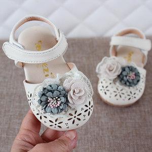 2019夏儿童<span class=H>鞋子</span>0-4岁婴幼儿宝宝防踢滑包头凉鞋女宝宝学步公主鞋