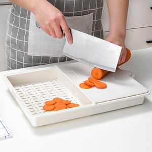 日本切水果<span class=H>菜板</span>抗菌防霉塑料砧板翻折分类厨房多功能可沥水切<span class=H>菜板</span>