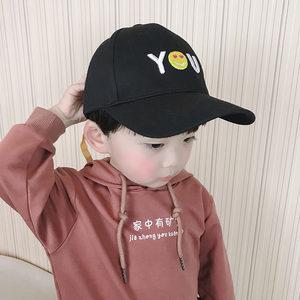 新款女童街舞帽儿童<span class=H>帽子</span>春秋男童棒球帽宝宝鸭舌帽遮阳纯棉韩版潮