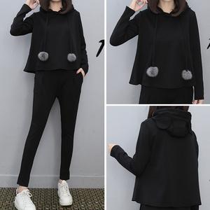 拼多多9元9女装包邮冬装折800米折网特价9.9块长袖卫衣两件套装