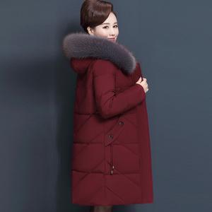 时尚妈妈装冬款棉衣外套中老年女装中长款大码宽松显瘦40岁50棉服