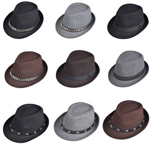 韩版潮<span class=H>小</span><span class=H>礼帽</span> 中年男 爵士帽秋<span class=H>冬天</span>英伦复古休闲毛呢帽子女青年帽